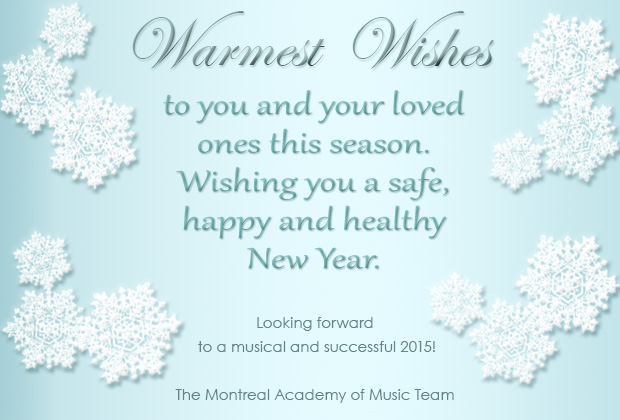 Warmest Wishes for the Holiday Season!